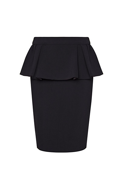 Shopping for: Black Peplum skirt (This is from MANGO but they are all sold out)