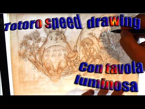 totoro speed drawing - YouTube
