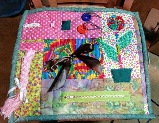 My very first fidget quilt