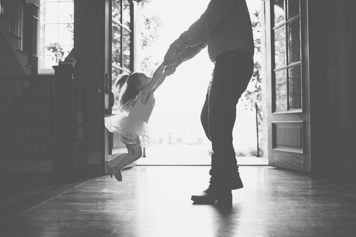 Adorable daddy and daughter.