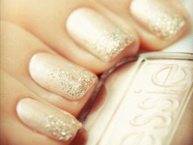 yellow dress nail polish tips