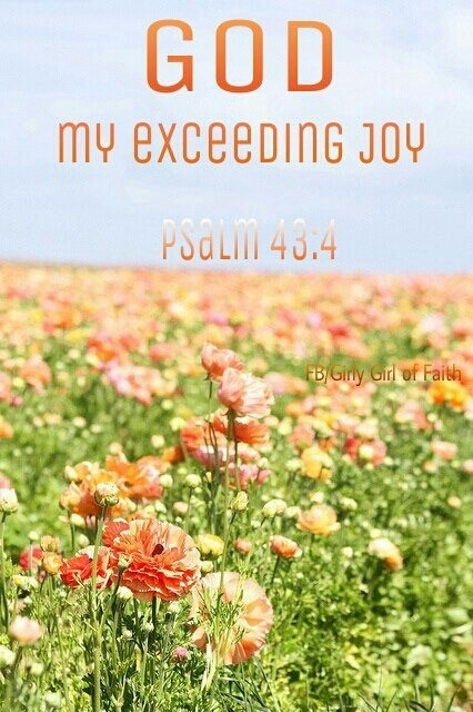 """""""Then I will go to the altar of God, To God my exceeding joy; And on the harp I will praise You, O God, my God."""" Psalms 43:4 NKJV"""