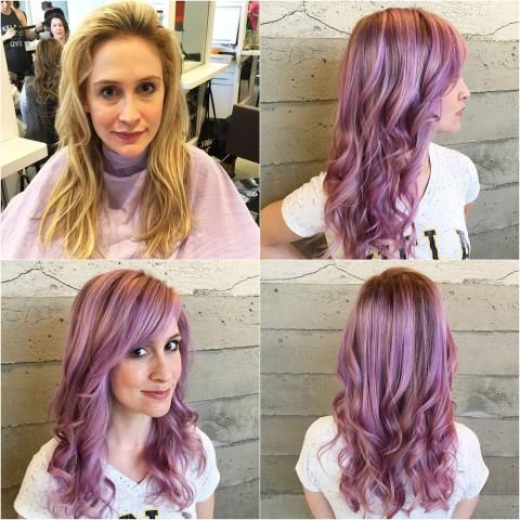 Hair Color. Wella Lavender Color Melt | Modern Salon