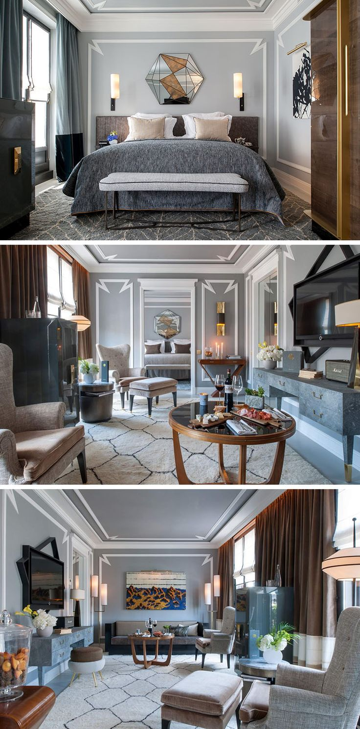 Wall Decor Idea - Highlight a wall, a piece of furniture or ceiling with contemporary decorative mouldings.