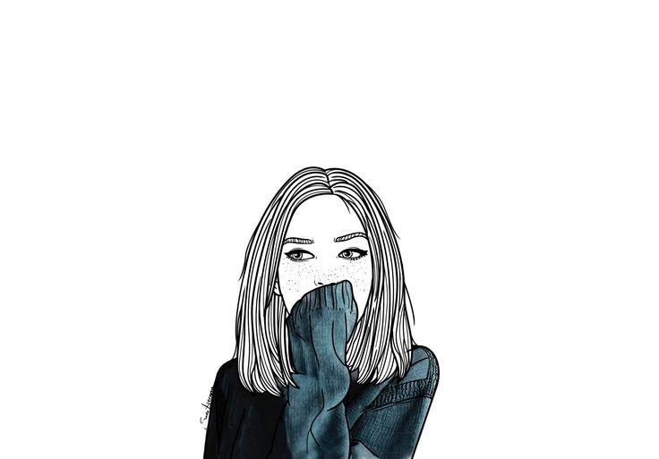 Parece que la vida no es del todo tan mierda, debajo de este enorme edredón de plumas.  #SaraHerranzIllustrations.