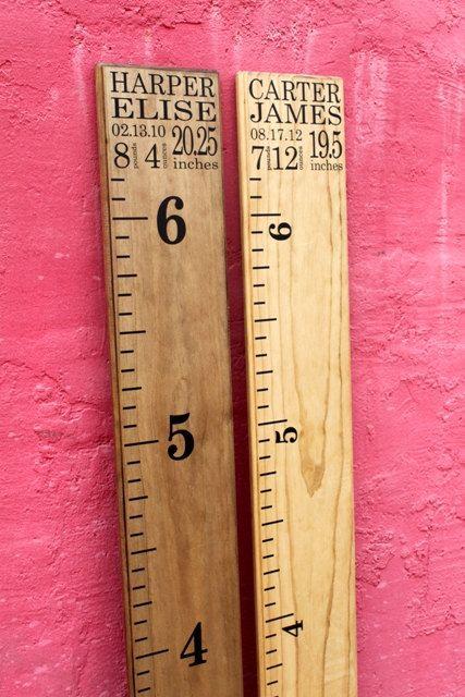 DIY Growth Chart Ruler AddOn Custom by LittleAcornsByRo on Etsy