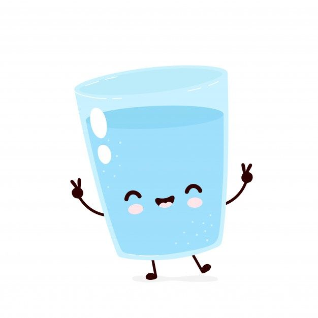 Cute Smiling Happy Water Glass Character Cute Drawings Cute Cartoon Drawings Cute Stickers