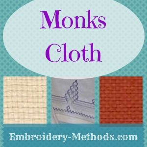 How to do embroidery on a monks cloth afghan -- Embroidery-Methods.com http://www.embroidery-methods.com/monks-cloth.html