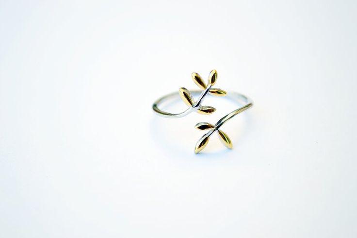 Gold Dip Leaf Ring by HALLO JANE