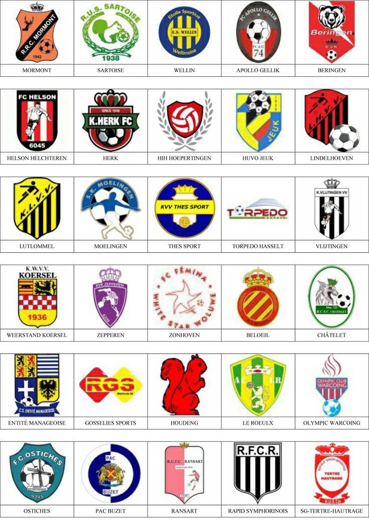 Bélgica - Pins de escudos/insiginas de equipos de fútbol.