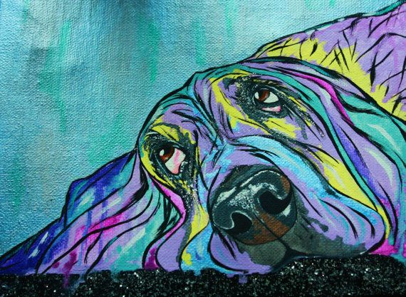 This is one of my most popular prints ...his expression is so sweet and the colors blend together beautifully. This listing is of an 11 by