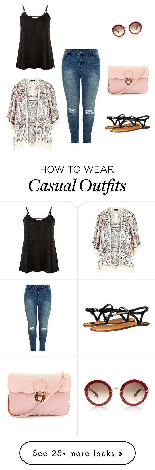 "Só pelos óculos- ""Plus casual"" by blairemabuza on Polyvore featuring Fergalicious"