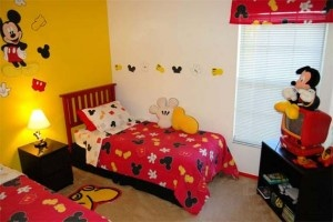 Mickey Mouse bedroom for Jackson.