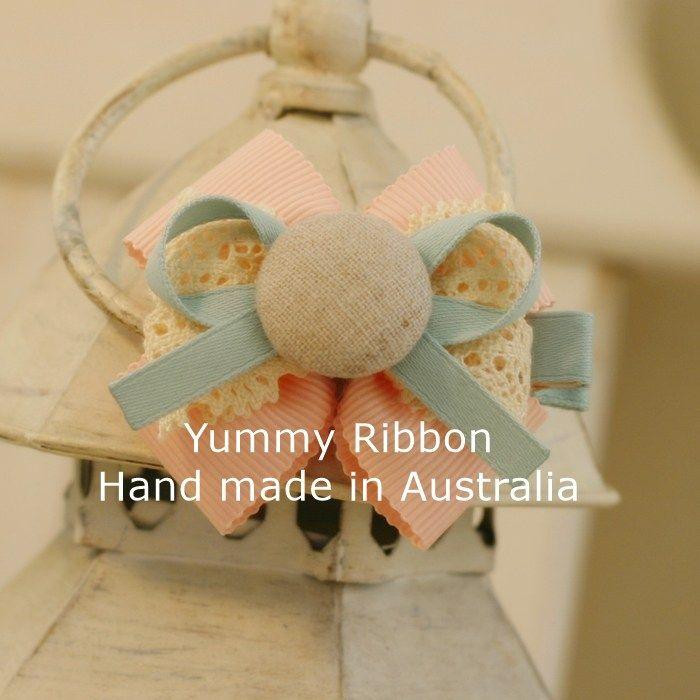 Pink Lady | m15  Medium size ribbon bow clip  100% Handmade in Australia  Bow size: 7cm x 6cm (apporx)  Clip length : 5cm(alligator clip)