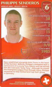 2007 Top Trumps Specials Arsenal #NNO Philippe Senderos Front