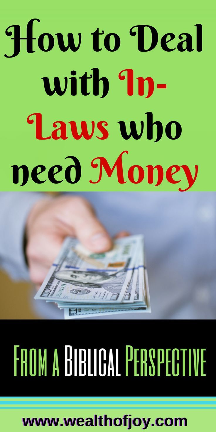 Giving money to in-laws can cause disagreement and contention in marriages.  This post addresses this from a Biblical Perspective. https://www.wealthofjoy.com/navigate-giving-money-laws/   #givingmoney