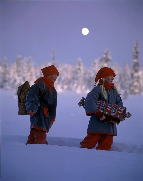 Finnish children at Christmas, straight from a storybook!