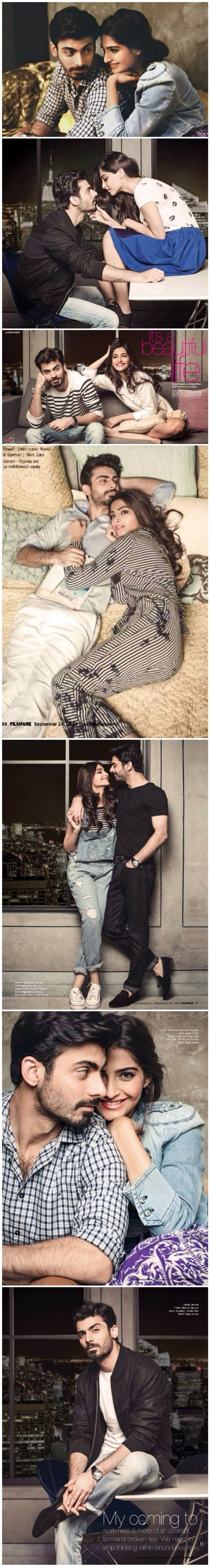 They can absolutely be a real life couple. I think the world will appreciate that. Sonam Kapoor, Fawad Khan get lovey-dovey on Filmfare.