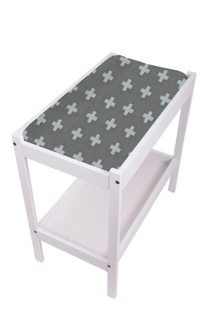 Change Table Mat Cover- Crosses Grey