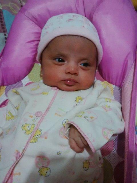 Zahirah cute face before sleep