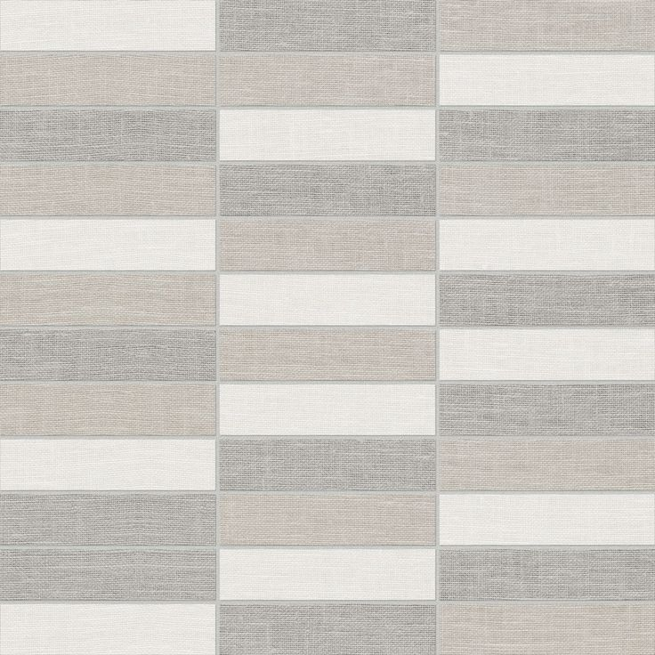 Belgian Linen Stacked mosaics - available in Light and Dark #Porcelain #Tile www.anatoliatile.com