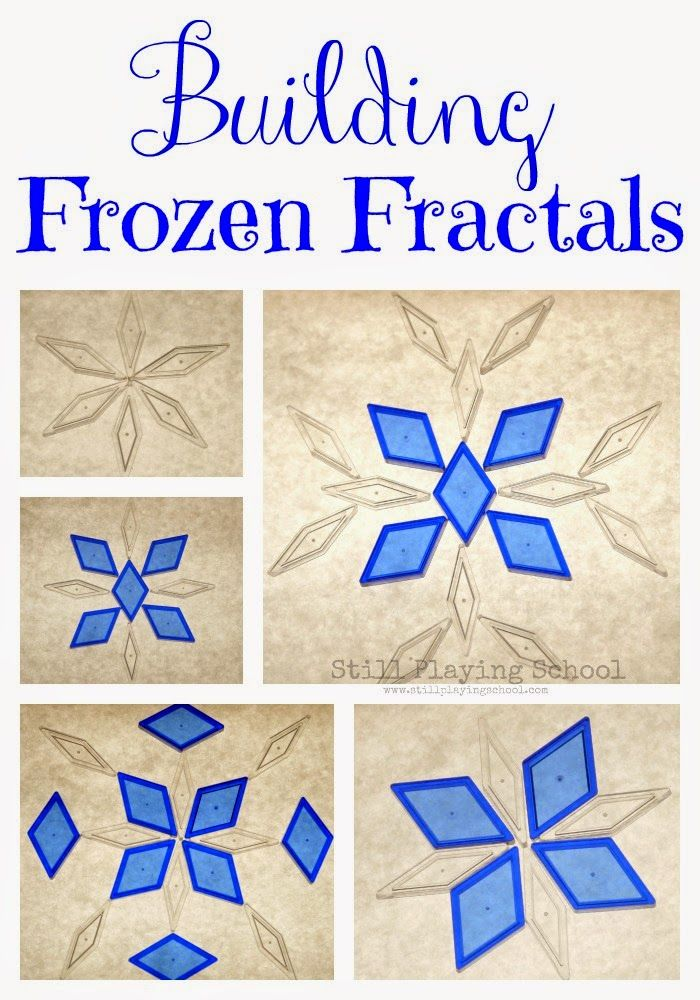 Building Snowflakes on the Light Table: Frozen Fractals for Learning Symmetry and Geometry from Still Playing School