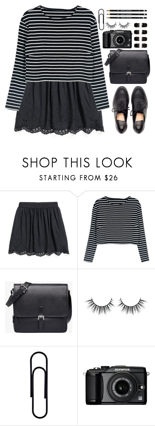 """""""Noonie Bao - Criminal Love"""" by annaclaraalvez ❤ liked on Polyvore featuring WithChic, Prada, Olympus and Forever 21"""