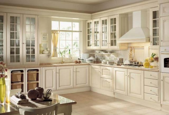 White Country Kitchen Ideas Cabinet