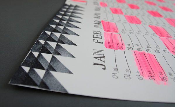 DIY-Anleitung: Jahreskalender - gestempelt, gezeichnet, gepinselt