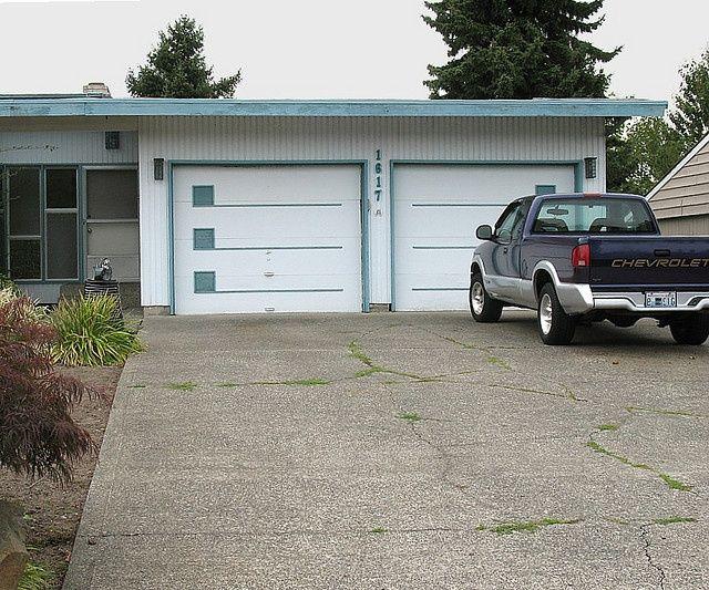 12 best mid century mod garage doors images on pinterest for Mid century modern garage