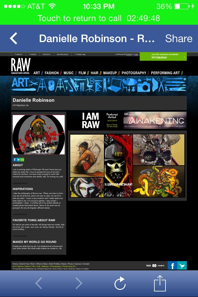 I'm a RAW artist! Check me out Feb 27th @ Club Zoo 7pm buy tix from me http://www.rawartists.org/daniellerobinsonart