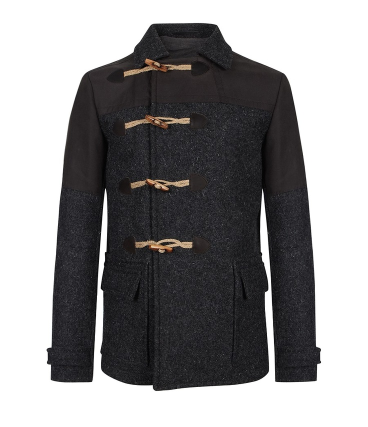Canyon Duffle Coat by AllSaints Spitalfields. I'm going hard on charcoal greys this winter. This coat is so fresh and now it's mine.
