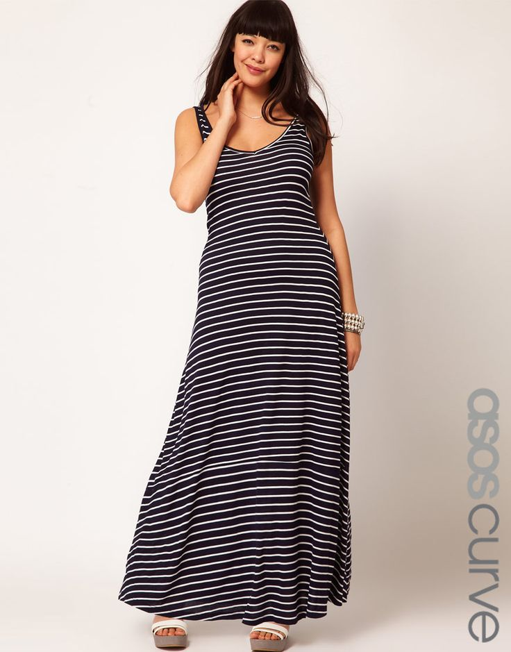 If I dare to try a maxi dress, I think small stripes are the way to go.Maxi Dresses, Size Dresses, Shops Asos, Asos Curves, Maxis Stripes, Maxis Dresses, Exclusively Maxis, Stripes Dresses, Curves Exclusively