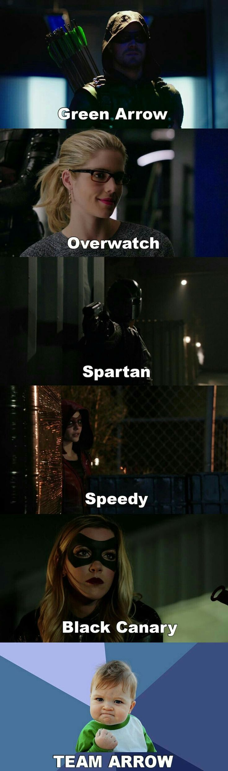 I actually didn't realize Felicity was called Overwatch and Dig was called Spartan. The more you know....