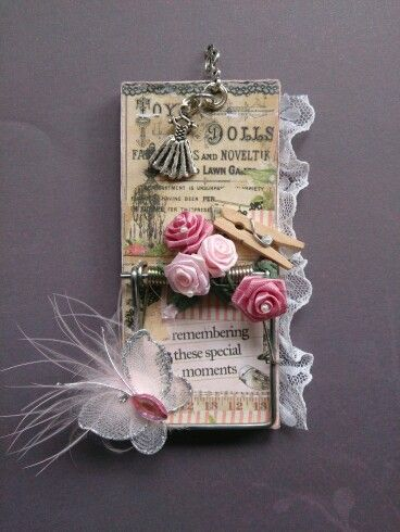 pretty in pink altered mousetrap...created by Lauraine