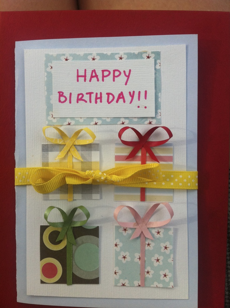 No gift? Pretend with four on the front of this birthday card.