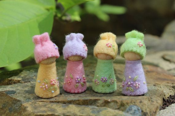 Spring Gnomes by MyLittleAcorns on Etsy