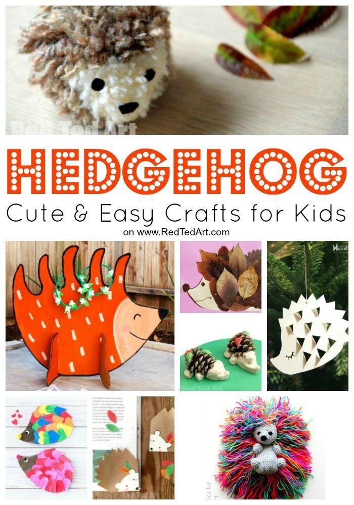 Easy Hedgehog Crafts For Kids