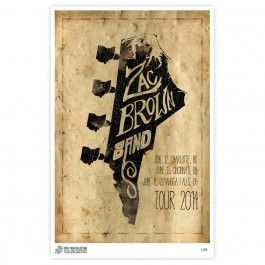 2014 Zac Brown Band Tour Collection Print – No. 7