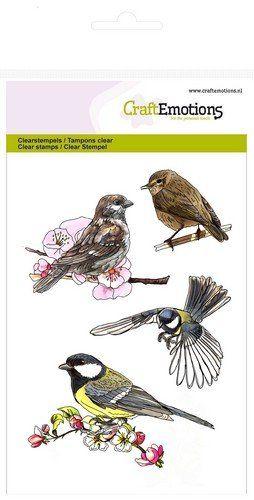 Crealies und CraftEmotions Transparent Stempel: Vögel - Hobby-Crafts24.eu
