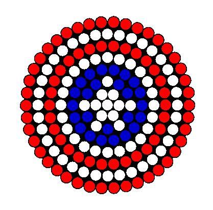 Captain America Shield Perler Bead Pattern | Bead Sprites | Misc Fuse Bead Patterns