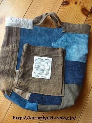 デニムのリメイク風バッグ新作とざっくりリネンのバッグ作りました : kokochiよく暮らそ。 KRM WORKS.の手作り日記