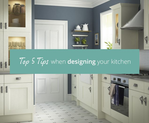 Designing your kitchen is both fun and daunting. Read our blog for our top 5 tips on designing your kitchen.
