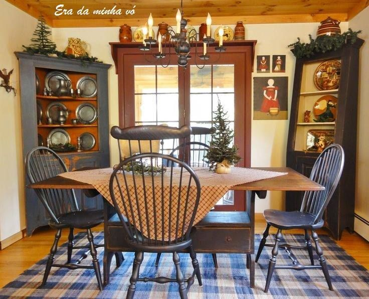 143 best images about era da minha v on pinterest for Primitive country dining room ideas