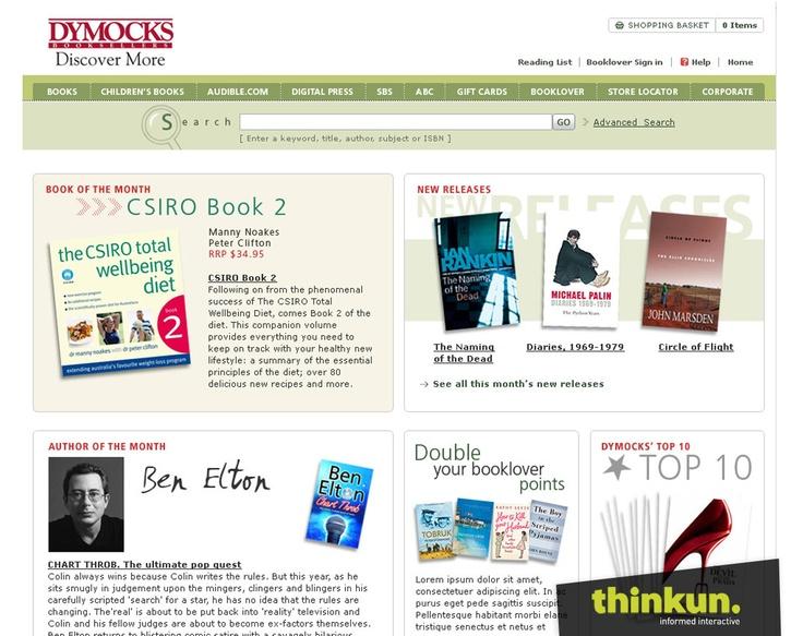 Dymocks website
