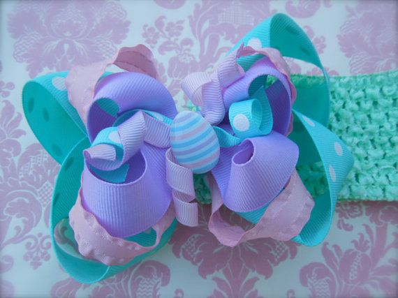 Easter Sunday Dress Bow perfect Easter Bow 5 inches 3 by ashligug, $7.50