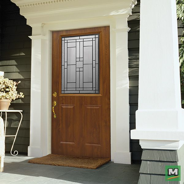 Enliven Your Entryway With Mastercraft® Dark Oak Prefinished Half Lite  Prehung Exterior Door.