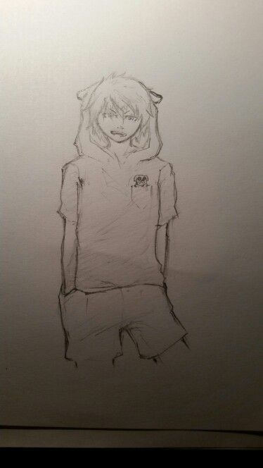 Sketch of a... sketch? Finn the Human from Adventure Time