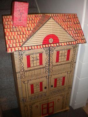 Vintage Huge Cardboard Dollhouse 5' Tall   eBay