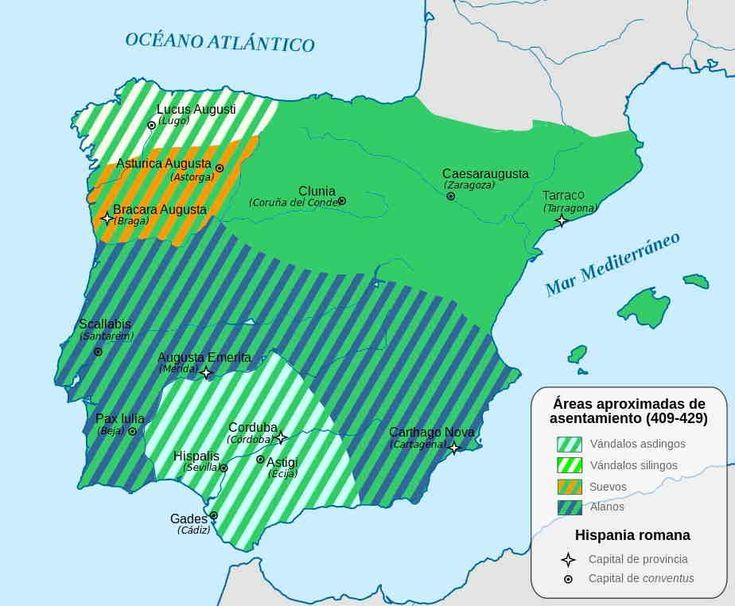 Invasiones de pueblos bárbaros en el siglo V.